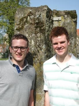 Die jungen Kandidaten Patrick Wegener (links) und Ralf Rathgeber (rechts)